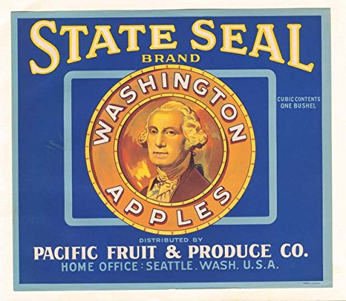 Fruit Crate Label - Washington Apples