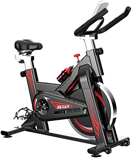 Qys Spinning Bike Bicicleta estática con Sports Bottle iPad ...