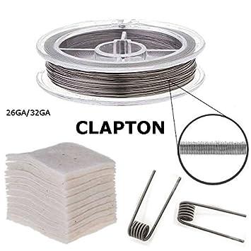 RBA Zubehör, Clapton-Draht auf Rolle + Bio-Baumwolle (Clapton 24 ...