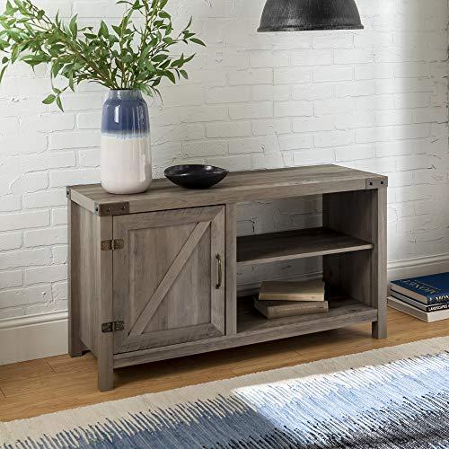 (WE Furniture AZ44BD1DGW TV Stand 44