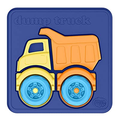Green Toys Dump Truck Puzzle (4 Piece): Toys & Games