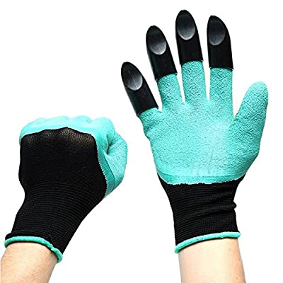 XFainta Garden Genie Gloves Waterproof With Fingertips Unisex Right Claws Quick And Easy To Dig And Plant Safe For Rose Pruning, Composting As Seen On TV, Right Hand Claw, 1 Pair