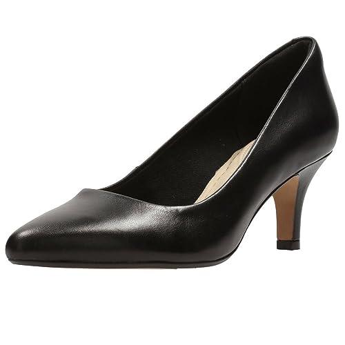 3383cf283cc Clarks Isidora Faye Womens Wide Dress Court Shoes 5 Black  Amazon.co.uk   Shoes   Bags
