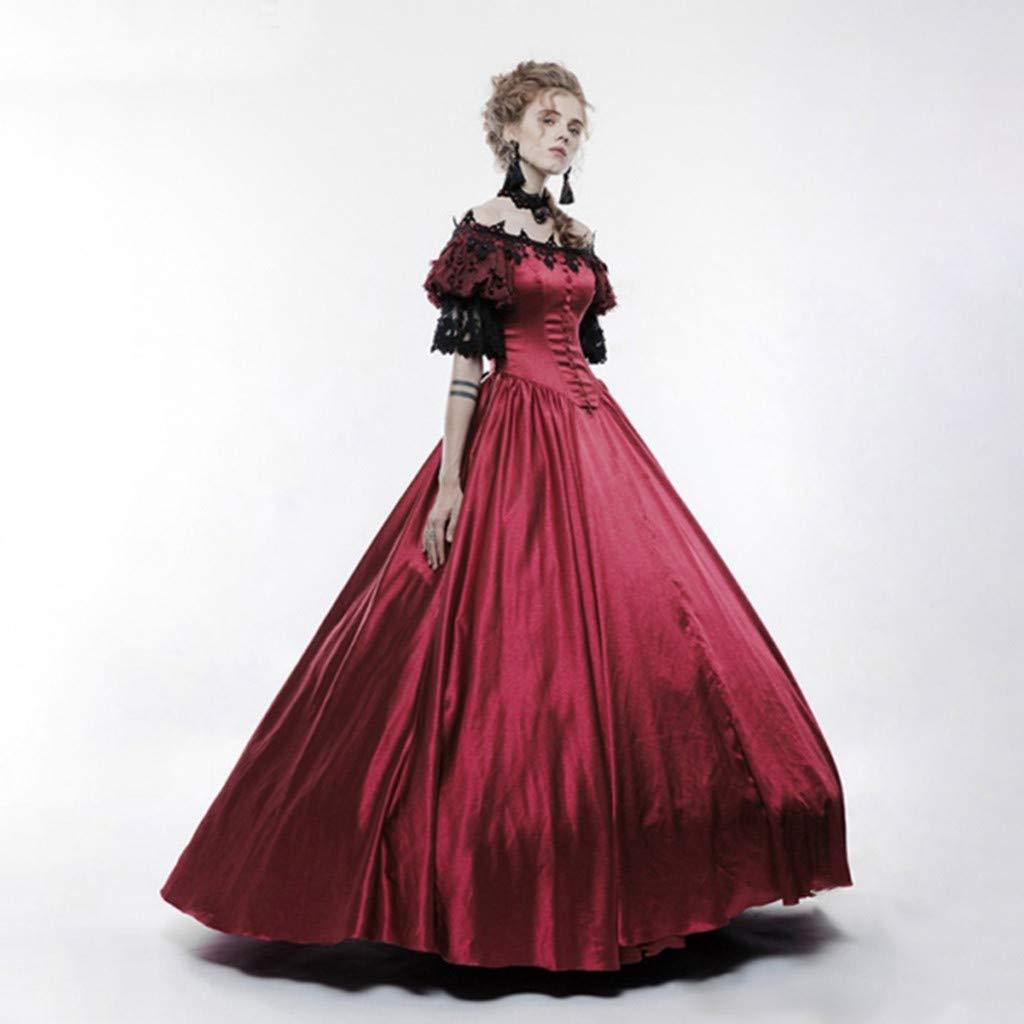 Posional - Vestido para mujer estilo medieval de corte gótico ...