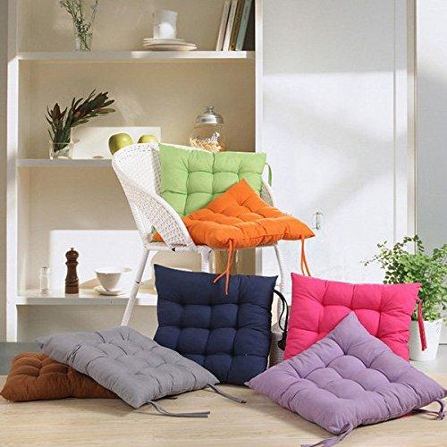 ソフト正方形綿シートクッションホームソファーオフィスチェア枕(ライトグレー)   B0756LXLQV