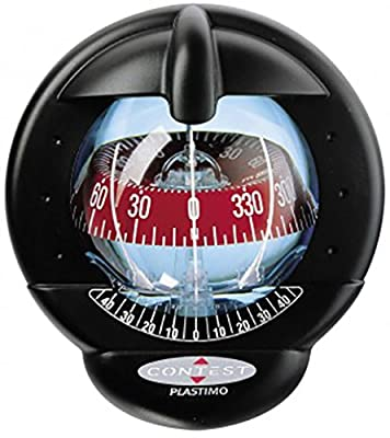 Nautos 25328 - Contest 101 Compass-vertical Mount-black Compass With Red Card-plastimo from Plastimo