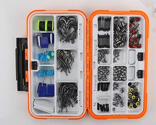 Oular Fishing Gear Circle Hooks 240pcs Tackle Box Compatible Freshwater