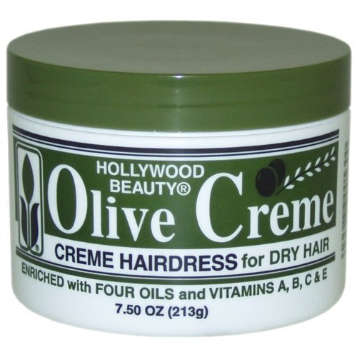 Hollywood Beauty Olive Cream Hairdress, for Dry Hair, 7.5 Ounce (Pack of 3)
