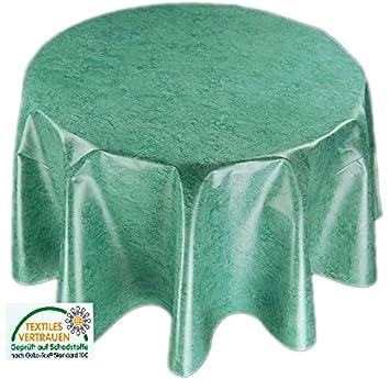 Mantel lavable redondo 120 cm hule Mantel de jardín cocina comedor ...