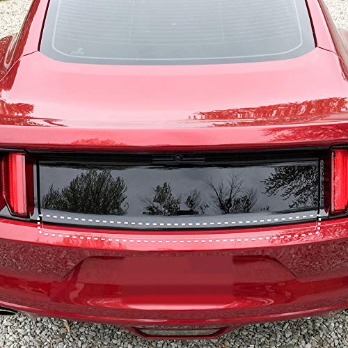 Red Hound Auto Rear Bumper Paint Protection Film 2015-2017 Compatible with Ford Mustang 1pc Custom Guard Clear Applique Cover Premium Self Healing Invisible Cover Wet Install