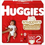 Huggies Little Snugglers Baby Diapers, Size 2, 180 Count