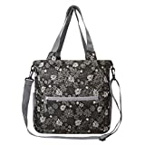 Travelon Women's Packable Crossbody Tote Travel, Retro Mums, One Size