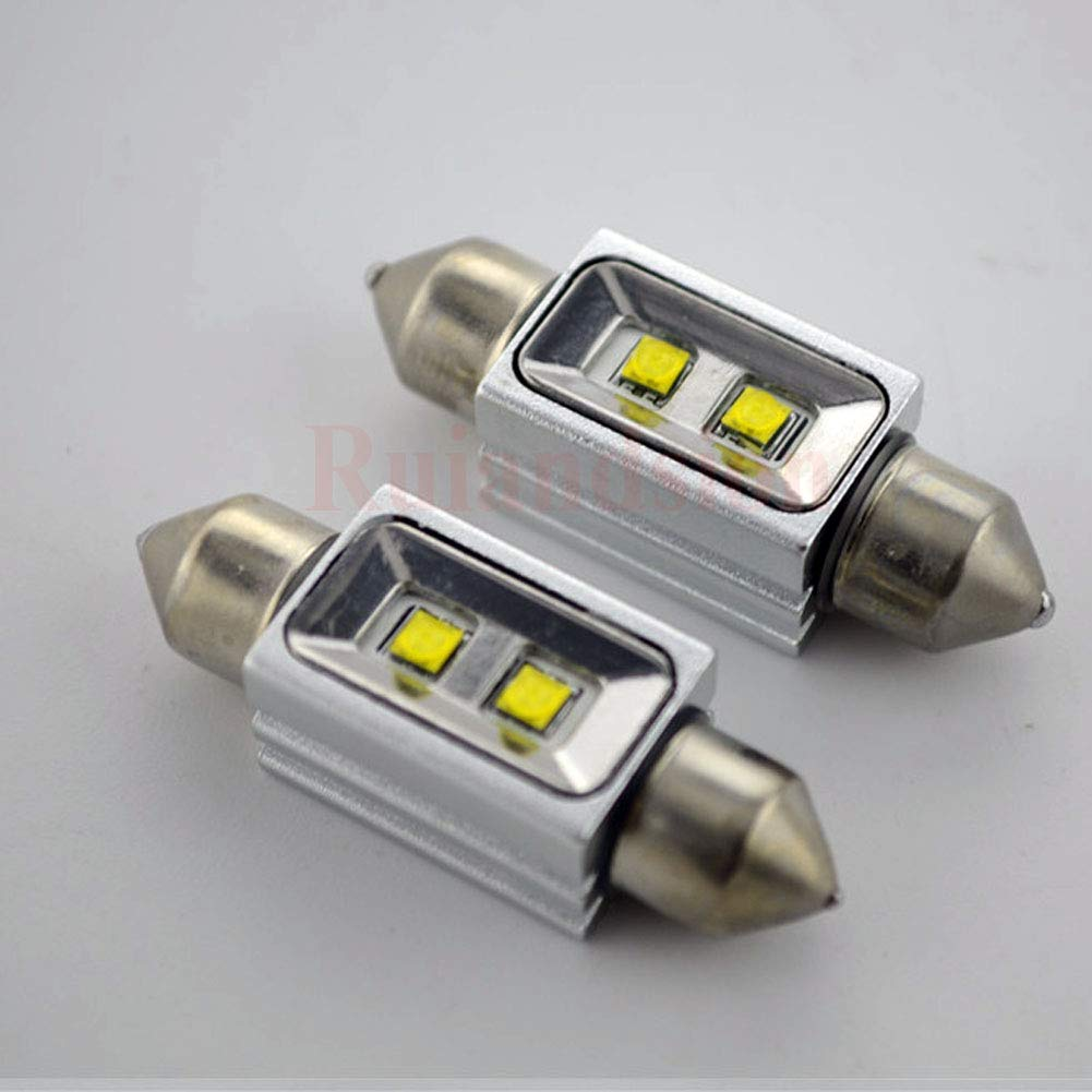 bianco Ruiandsion 2PCS Canbus LED lampadine 36/mm 12/V 2SMD 10/W CREE LED interni auto festone mappa luce cupola lettura lampadine