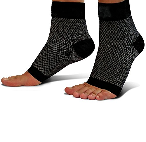 Compression Foot Sleeves, for Men & Women - Best Plantar Fasciitis Socks for Plantar Fasciitis Pain Relief, Heel Pain, and Treatment for Everyday Use with Arch Support