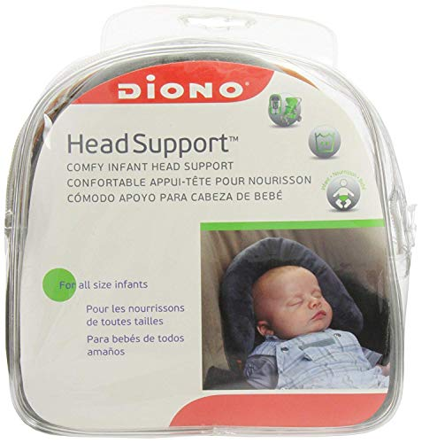 Diono Head Support, Protective Head Support for Use in Car Seats, Infant Carriers, and Strollers, Grey by Diono (Image #3)