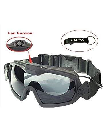 antipolvo Gafas para la protecci/ón de los ojos de Babimax con protecci/ón contra los rayos UV para el exterior antiniebla color negro oscuro.