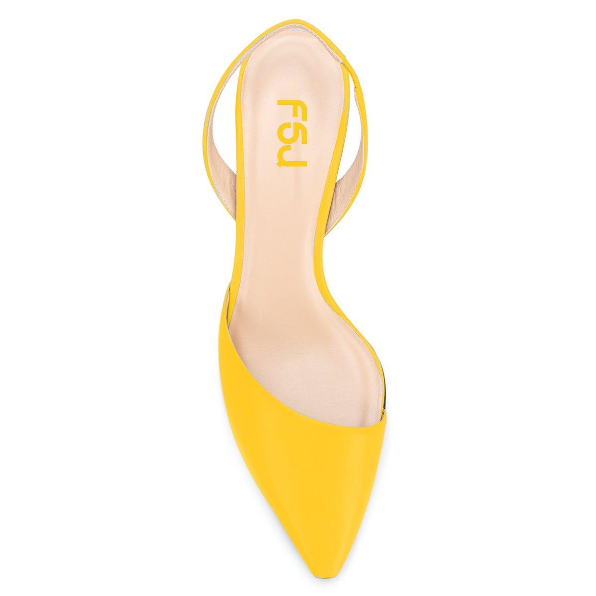 8c39af2b78f ... FSJ Women Classic Pointy Toe Toe Toe Pumps Chunky Mid Heels Slingback Sandals  Comfortable Shoes Size ...