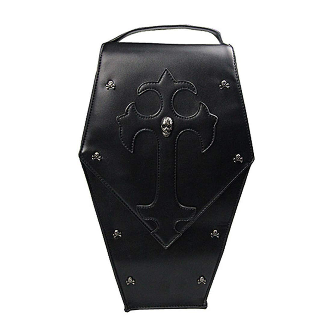 Qhome Steampunk Shoulder Bags Personality Gothic Punk Vintage Women Messenger Bags Fashion Female Leisure PU Leather Cross Body bag