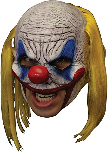 Ghoulish Chinless Clooney Clown Deluxe Horror Party Latex Halloween Costume ()