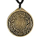 HZMAN Vintage Tibetan I Ching Spiritual Divination Om Pendant Necklace From Nepal, Yoga Jewelry