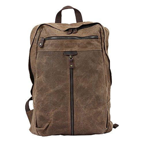 Yuzihan Canvas Backpack School Bag Vintage Rucksack Casual H