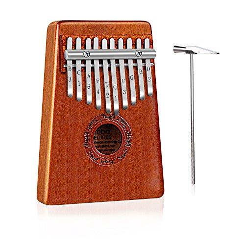 Mugig Kalimba Mbira Sanza 10 Keys Thumb Piano Pocket Size Beginners Friendly Supporting Kalimba Bag and Musical Notation - Image 6