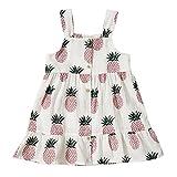 Peony Baby Toddler Girls Dresses Summer Sundress Pineapple Prints Organic 18m-6T (2-3Year(3T), Pink)
