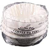 Coffee Pro CPF200 Coffee Filters, 12 Cup Coffeemaker, 200/PK, White