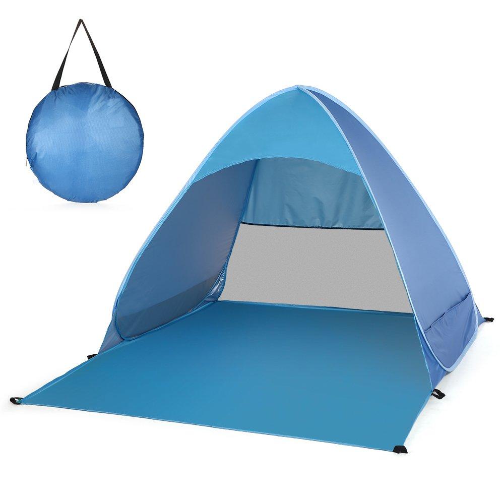 Super-Life Tente de plage pop-up automatique Abri Soleil Portable Cabana ext/érieur Tente de soleil d/ét/é
