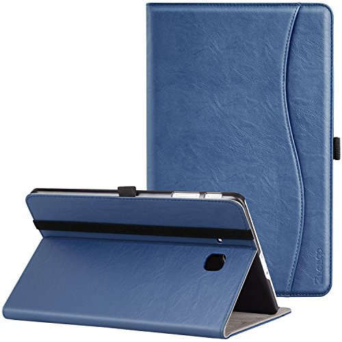 Samsung Galaxy Tab E 9.6 Case, Ztotop Premium Leather Slim Folding Cover for Samsung Galaxy Tab E Wi-Fi/Tab E Nook 9.6-inch Tablet(SM-T560/T561/T565 & SM-T567V), Navy Blue
