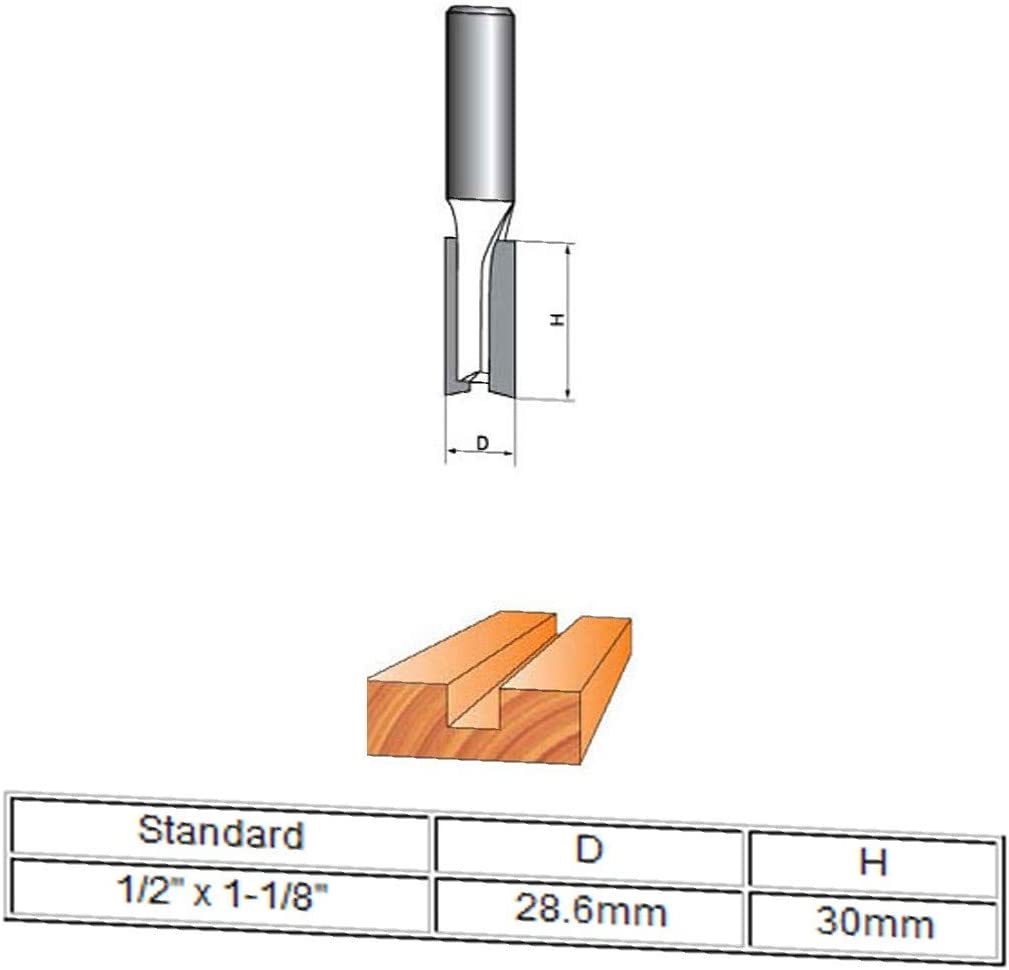 1//2 drill hole id:677 8c aa 7e8 New Lon0167 1-1//8 Dia Featured by 30mm Depth reliable efficacy Double Flute Straight Router Bit CNC Cutter