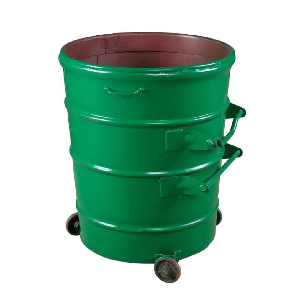 Garbage can Iron Trash Bin 360L Round Trailer for Street Sanitation Garbage Bin Outdoor Property District Garbage Bin Waste Bin
