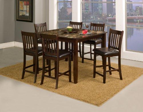 Alpine Furniture Capitola 5 Piece Counter Height Pub Table Set