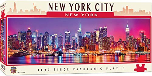MasterPieces Cityscapes Panoramic Jigsaw Puzzle, Downtown New York City, Dr. Toy