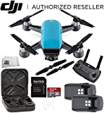 DJI Spark Quadcopter (Sky Blue) + DJI Spark Remote Essential Bundle