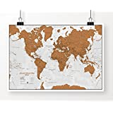 Scratch World Map - Scratch Off Places You Travel!