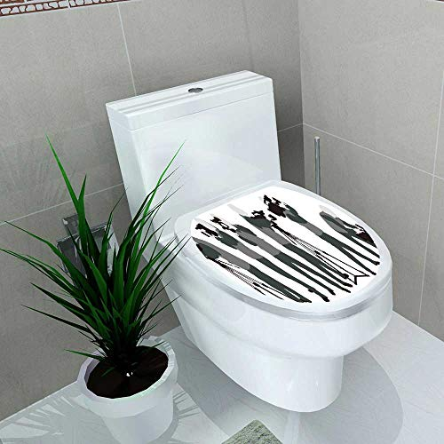 Waterproof self-Adhesive The Grey Silhoutte Pose Cameraman Shoot hd Camcorder Toilet Seat Vinyl Art Stickers W13 x L16