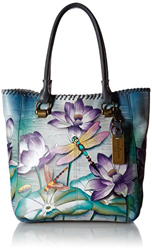 Anuschka Handpainted Leather Large Shopper-Tranquil Pond