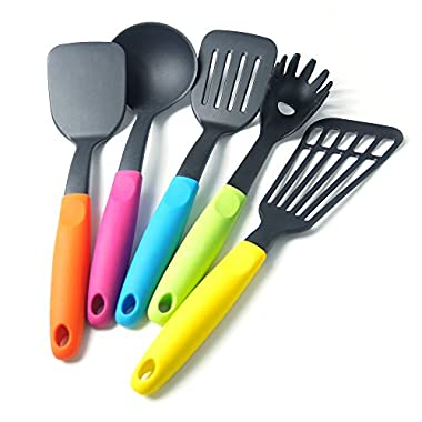 XKMagic Nylon Cooking Tool and Gadget Utensil Set with Silicone Handle
