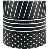 Japanese Masking Tape Washi Tape, set of 3 (Black & White)
