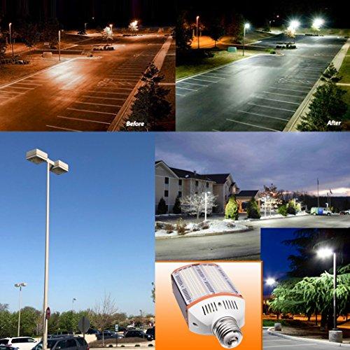 New Sunshine 60W LED Street Light for Outdoor Large Area -E39 8600Lm 4000K Pure White,for Road Lamp Wall Pack Shoebox Cobra Retrofit kit Flood Light Super Bright (60) by New Sunshine (Image #5)