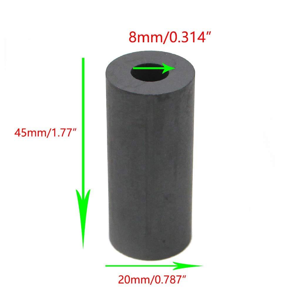 Chiloskit Pistolet /à sablage /à air en carbure de bore avec embouts de sablage pour armoires de sablage 35x20x3mmNozzle noir