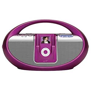 iLive Boombox with iPod Docking Station (Pink)