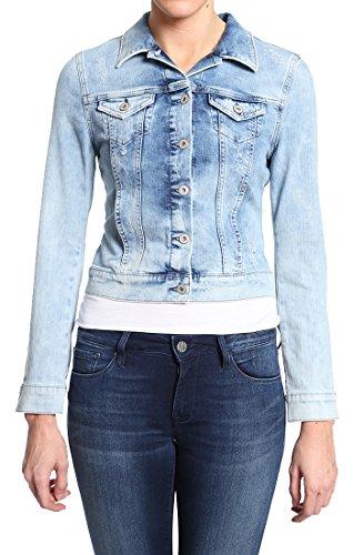 Mavi Women's Samantha Denim Jacket, Bleach Vintage, (Bleach Denim)