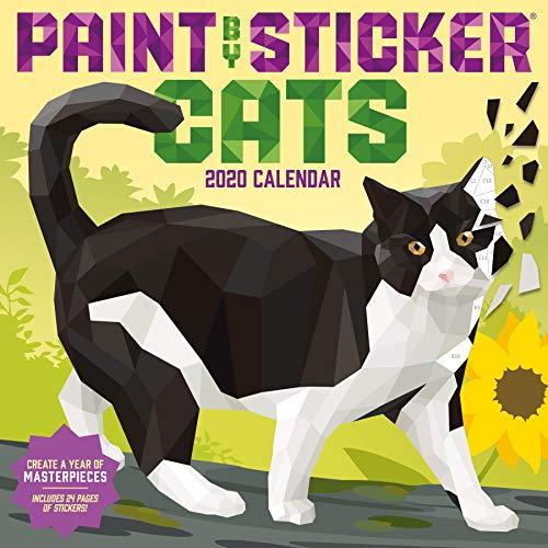 Paint by Sticker Cats Wall Calendar 2020