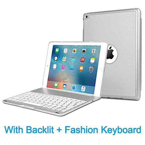 MOSTOP iPad Mini 2 / 3 Keyboard Bluetooth Slim Aluminum Wireless Keypad With 7-Color LED Soft Backlit for iPad Mini 2 / 3 ()