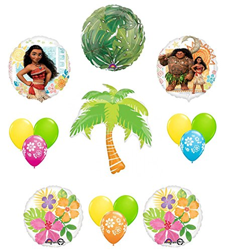 Disney Moana Tropical Party Supplies Balloon Decoration 15 pc Kit