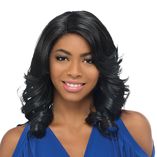 Vivica A. Fox LIME New Futura Fiber, Natural Baby Hair Lace Front Wig in Color GMP2216