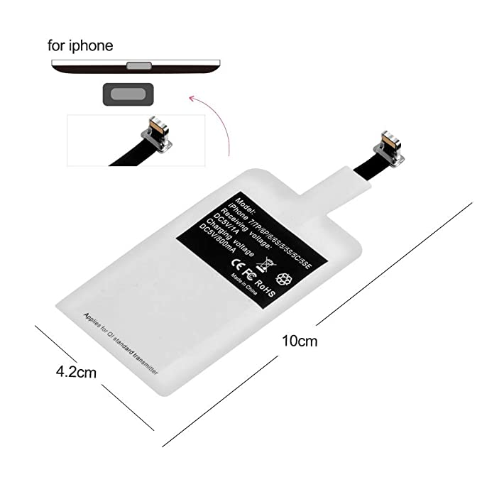 KHKJ - Cargador inalámbrico Ultra Fino LED Qi para iPhone XS ...