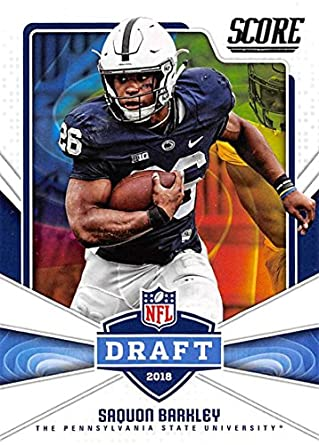 the best attitude 9de0f 12a79 Amazon.com: 2018 Score NFL Draft #6 Saquon Barkley Penn ...